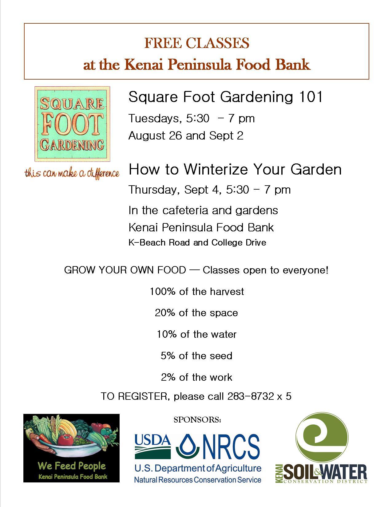 Free Gardening Classes Kenai Soil Water Conservation